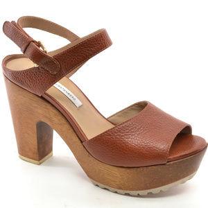Diane Von Furstenberg Tiber Too Clog Sandals 8 M